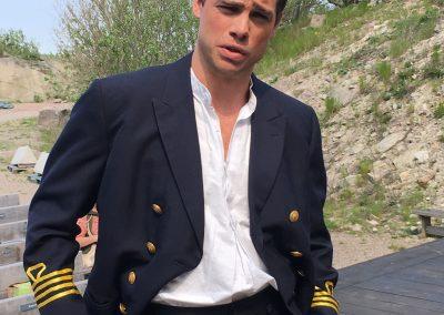Spanske kaptenen Juan, spelad av Victor Trägårdh