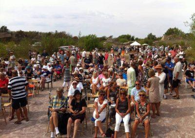 Heta startskottet 2/8 2014 med drygt 500 i publiken och > +25 C